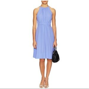 Kate Spade Pale Aster periwinkle crepe dress
